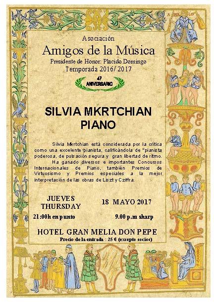 Resultado de imagen de Hotel Gran Meliá Don Pepe de Marbella. CONCIERTO. A cargo de la magnífica Pianista Silvia Mkrtchian
